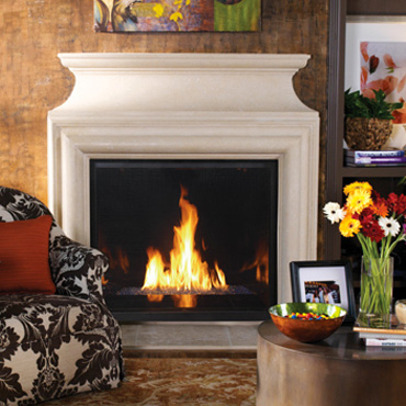The heat source gas fireplaces for Montebello fireplace